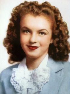 A rare photo of Norma Jeane around 12 years old.