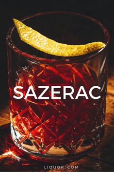 A close cousin of the Old Fasioned, the Sazerac combines equal parts cognac and rye. This classic drink is very spirit forward, and a favorite during Mardi Gras. Cocktail Drinks, Cocktail Recipes, Cocktail Night, Liquor Drinks, Bourbon Cocktails, Alcoholic Drinks, Whiskey Cocktails, Holiday Cocktails, Recipes