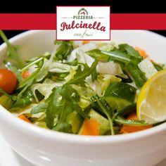 Insalata Mista - A delightful mixture of leaves, fresh cherry tomatoes, cucumber and carrots. pulcinelladubai.com   800 PIZZERIA #salad #dubaipizza