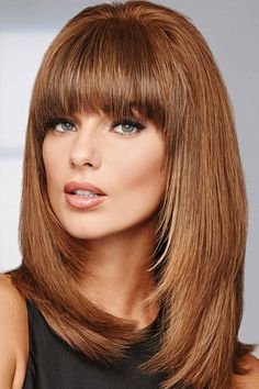 Shop Raquel Welch Wigs - all styles & colors. Browse current styles at this online retailer for Raquel Welch wig & hair products. Haircuts For Medium Length Hair, Haircuts With Bangs, Medium Hair Styles, Short Hair Styles, Balayage Brunette To Blonde, Blonde Wig, Frontal Hairstyles, Wig Hairstyles, Easy Hairstyle