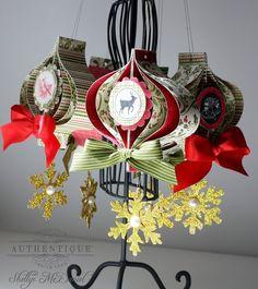 Festive Ornaments by Authentique Paper Design Team Member Shellye McDaniel