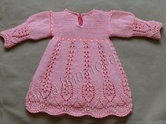 Вязание платье для девочки до года спицами фото