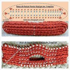 How To Crochet A Shell Stitch Purse Bag - Crochet Ideas Crochet Diagram, Crochet Chart, Filet Crochet, Bead Crochet, Crochet Stitches, Crochet Baby, Crochet Patterns, Crochet Squares, Crochet Clutch