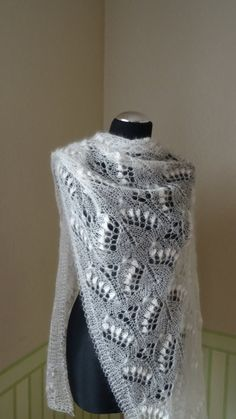 Hand knitted stole / scarf with double nupps by KnitANDlace