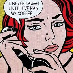 This is yet another comic Pop Art piece by none other than Roy Lichtenstein. This particular piece shows a woman on the phone. As you can see, in this and many of his other works, Lichtenstein uses speech bubbles to emphasise the meaning of his artworks.