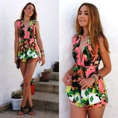 OUTFIT: http://www.glamzelle.com/products/chic-next-in-line-tropical-print-playsuit-2-colors-available