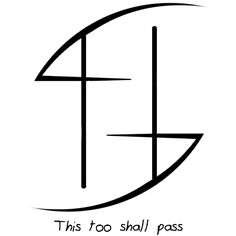 "morbidbunny said: I know you just did a ""this wont last forever"" but I was wondering if you would be willing to do a sigil for ""this too shall pass""? Answer: ""This too shall pass"" sigil Warrior Symbols, Viking Symbols, Ancient Symbols, Warrior Symbol Tattoo, Egyptian Symbols, Viking Runes, Cool Symbols, Magic Symbols, Symbols And Meanings"