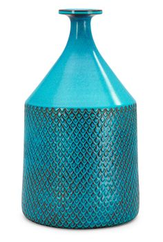 Turquoise patterned vase - Stig Lindberg