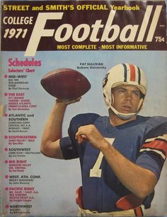 1971 Heisman Trophy and Auburn Tigers QB Pat Sullivan on the Street and Smith college football magazine.