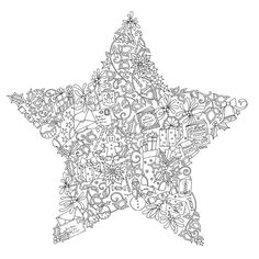 Christmas Colouring from Johanna Basford.  Check out her work at www.johannabasford.com!