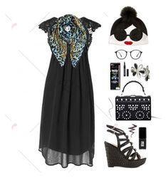 """""""LBD"""" by burlsgurl ❤ liked on Polyvore featuring Roberto Cavalli, Alice + Olivia, Ray-Ban, GUESS, Nasty Gal, JINsoon, NYX, Gucci and Lord & Berry"""