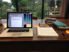 My favorite study spots have big windows and big tables. Bonus points if it's super quiet and no one knows where it is.