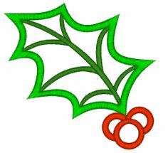 Free Embroidery Design: Holly Leaf Outline / Applique - I Sew Free