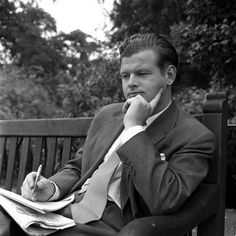Benny Hill in a contemplative moment ...  but he's still thinking about naked women ..