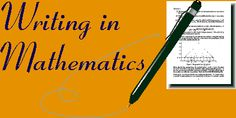 Writing in Math This is really good for writing journal ideas or writing exit tickets Calculus, Algebra, Journal Prompts, Journal Ideas, Math Writing, Math Vocabulary, Learn Math, Secondary Math, Exit Tickets