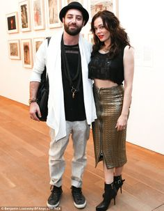 Newlyweds: Rose wed artist Davey Detail in October; the couple is pictured attending the Pamm opening party at Perez Art Museum in Miami on ...