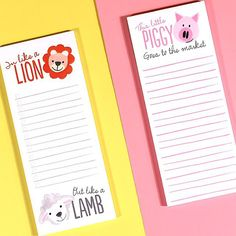 I'm getting my packing list for NYC all written out.. these are two of three long list notepads available on www.thimblepress.com or at select retailers!