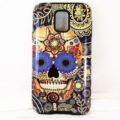 Sugar Skull Blues - Day of The Dead Art Galaxy S5 case - TOUGH style protective case