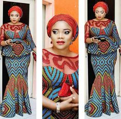 Hello Ladies: it's another Weekend! Time for Aso Ebi Blouse and Skirt Styles. Below are awesome and amazing blouse and skirt with lovely styles African Dresses For Women, African Print Dresses, African Print Fashion, Africa Fashion, African Fashion Dresses, African Attire, African Wear, African Women, African Prints