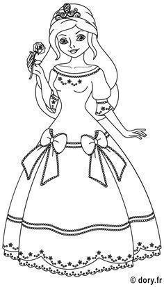 Dessin à imprimer : une princesse                                                                                                                                                      Plus