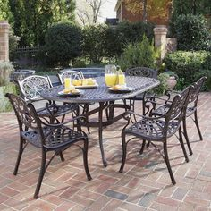Shop Home Styles Biscayne 7-Piece Patio Dining Set at Lowes.com
