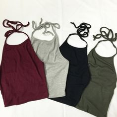 Rib halter crop tops!!!!