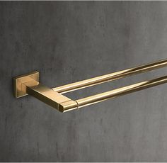 modern double towel bar. RH\u0027s Modern Double Towel Bar:With Its Squared Edges And Bull-nose Finials, Bar