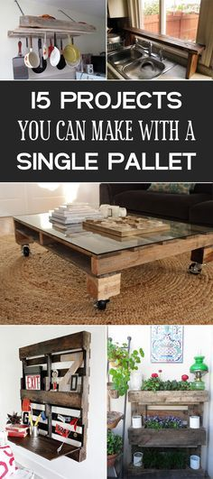 Clever projects you can make with a single pallet.