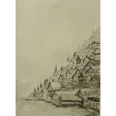 Casas nas montanhas.  Caneta 0.4 e pincel Nanquim. Papel Pólen 95gm 297 x 42 cm. . Houses on the mountains! Pen 0.4 and Nankin. Polen paper 95gr 297 x 42 cm. . . . . . . . . . . . . . #art #illustration #ink #inkdrawing #drawing #draw #picture #photography #artist #sketch #sketchbook #paper #pen #pencil #artsy #instaart #rascunho #instagood #desenho #arte #rascunho #gallery #masterpiece #creative #photooftheday #instaartist #graphic #graphics #artoftheday
