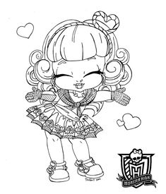 Baby Monster High Coloring Pages | Baby C.A. Cupid by *JadeDragonne on deviantART