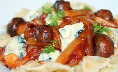 Sig's Pasta with Tomato, Fennel, Mushroom and Gorgonzola recipe cover