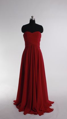 I dont like red but i really like this shade of red!!!!!       Fashionable A-line empire waist chiffon dress for bridesmaid (discount price for Corissa)