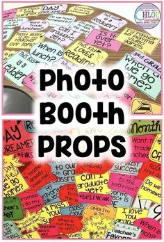 Use these photo booth props all school year! Perfect signs for back to school events: meet the teacher open house back to school night parent conferences Christmas gifts etc. Includes signs for the entire year! All Schools, Elementary Schools, Elementary Teaching, Upper Elementary, Teaching Reading, Teaching Math, Teaching Resources, Teaching Ideas, 3rd Grade Social Studies
