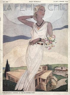 La Femme Chic 1931 Fashion ,cover illustration may, may, mei,mayo