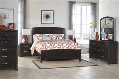 Braymore Contemporary Brown Wood Master Bedroom Set