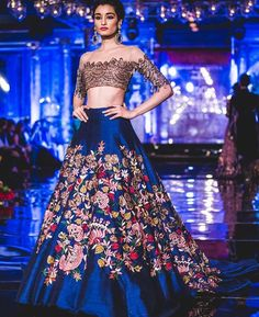Buy beautiful Designer fully custom made bridal lehenga choli and party wear lehenga choli on Beautiful Latest Designs available in all comfortable price range. Indian Wedding Outfits, Indian Outfits, Manish Malhotra Bridal Collection, Off Shoulder Bluse, Sangeet Outfit, Mehndi Outfit, Lehenga Designs, Indian Couture, Pakistani Couture