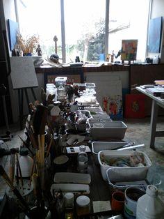 L'atelier de Hubert Pembroke  Photo Raphaële Kriegel 2015 http://www.photographe-tableau-paris.com/