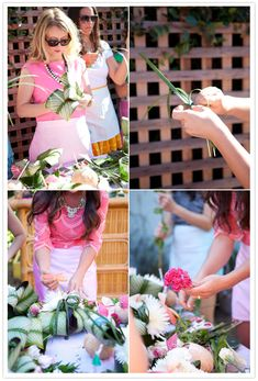 Flower class. Cute idea for a bridal shower activity!