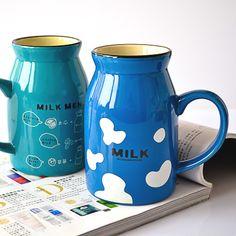 Another multicolor cow ceramic mug!