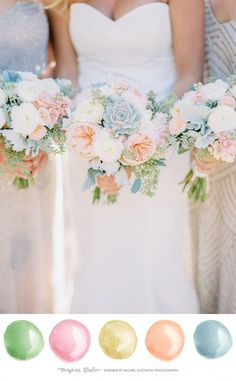 Spring and early summer wedding ideas you will love! Pastel soft colors are perf… Spring and early summer wedding ideas you will love! Pastel soft colors are perfect for a wedding. So romantic and. March Wedding Colors, Pastel Wedding Colors, Wedding Color Schemes, March Wedding Flowers, Spring Wedding Themes, Romantic Wedding Colors, Pastel Weddings, Romantic Weddings, Early Spring Wedding