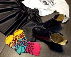 Primigi Shoes, Colours animalier Happy Socks for kids, leather skirt and t-shirt FollieFollie - www.momeme.it