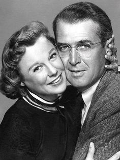"1954....June Allyson and Jimmy Stewart in ""The Glenn Miller Story."