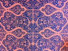 Morrocan Tile Print Wallpaper from Publisher Textiles.