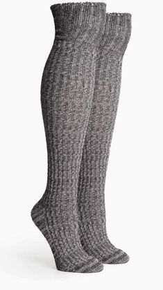 10f8f2df2 Richer Poorer Women s Reina Over The Knee Textured Socks Heather Gray - NEW   fashion
