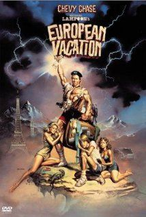 National Lampoon's European Vacation - one sheet poster - USA - Chevy Chase - Boris Vallejo artwork Boris Vallejo, Win A Vacation, Vacation Movie, Vegas Vacation, Vacation Ideas, 80s Movies, Great Movies, 80s Movie Posters, Awesome Movies