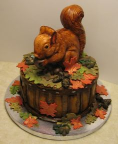 Autumn Squirrel Cake/cute my birthday cake?!!!! Haha I wish