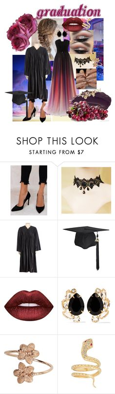 """Graduation (Not Thot)"" by kronostar on Polyvore featuring Billini, Lime Crime, Urban Decay, Bounkit and Oscar de la Renta"