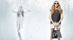 fendi spring 2014 campaign3 Nadja Bender + Joan Smalls Star in Fendi Spring 2014 Ads