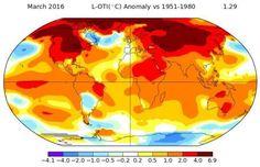 La Tierra encadena seis meses con más de 1ºC por encima de lo normal, según la NASA.