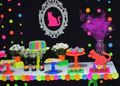Neon Cat Tween Birthday Party via Kara's Party Ideas | The Place for All Things Party! KarasPartyIdeas.com (10)